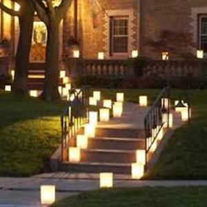 Set Of 10 Flame Retardant Paper Candle Lantern Bags Wedding Party BBQ Tea lights