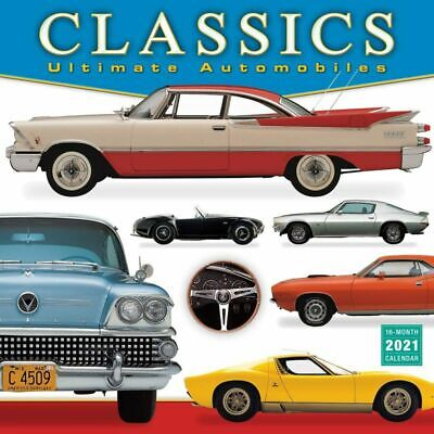 """2021 Classics Ultimate Automobiles Monthly Wall Calendar, Cars Vehicles 12""""x12"""""""