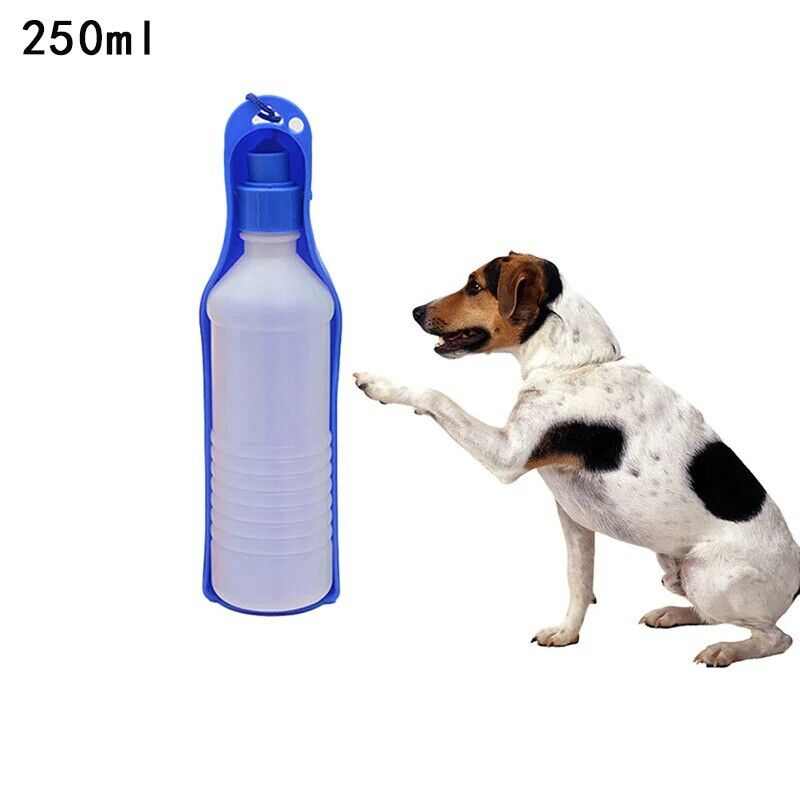 Portable Pet Dog Cat Outdoor Travel Water Bowl Bottle Feeder Drinking Fountain
