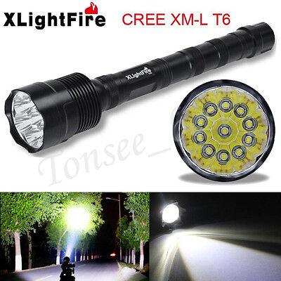 45000 Lumens 5 Mode Lamp XML T6 18650 Super Bright Aluminum LED Flashlight Light