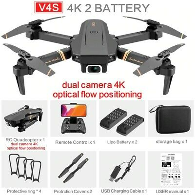 4DRC Fold V4S RC FPV Drone 4K HD Camera Wi Fi Quadcopter Remote Control kid Toy