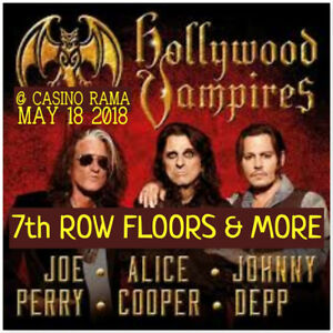 HOLLYWOOD VAMPIRES @ CASINO RAMA-AMAZING 7th ROW FLOORS & MORE!