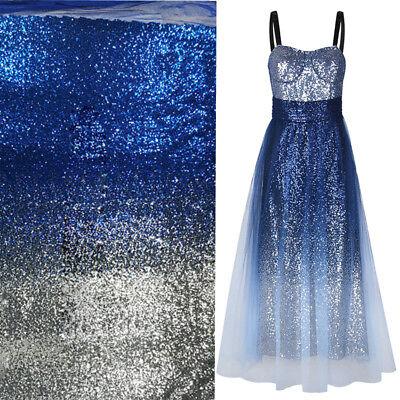 Diy Fairy Dress (Glitz Gradient Embroidery Sequins Fabric Sparkle Dress DIY Material Wide)