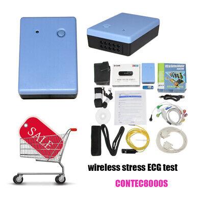 Contec8000s 12-lead Wireless Stress Ecgekg Test System Recorder Pc Software New