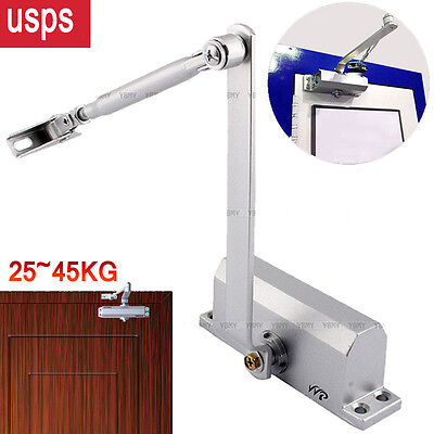 25-45kg Aluminum Commercial Door Closer Two Independent Valves Control Sweep -us