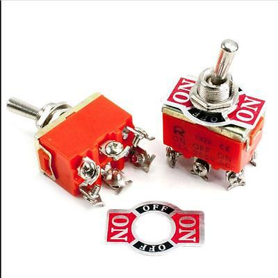 6-pin Toggle Dpdt On-on Switch 15a 250v Mini Switches Sw