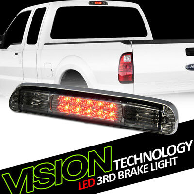 - Smoke Tint LED 3rd Third Brake Light Taillight AW For 99-16 F250/F350 Superduty