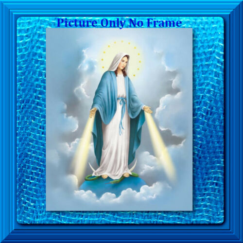 8x10 CATHOLIC ART Print Picture Our Lady of Grace Virgin Mary (No Frame)
