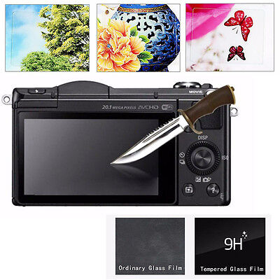 Tempered Glass Film LCD Screen Protector Guard for Sony Alpha A5000 A5100 A6000