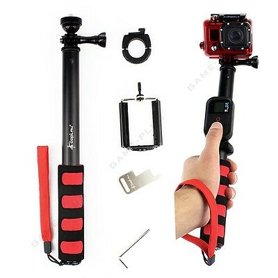Remote Pole Selfie Stick Extendable Telescopic Monopod for GoPro 5 4 3+ 3 Black