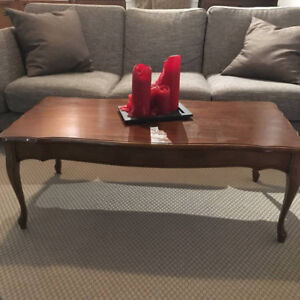 Elegant Vintage Wooden Coffee Table