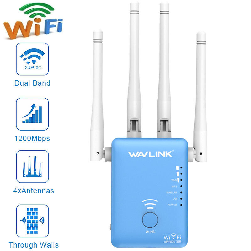 2.4G/5G Dual Band WiFi Repeater 1200Mbps WIFI Range Extender