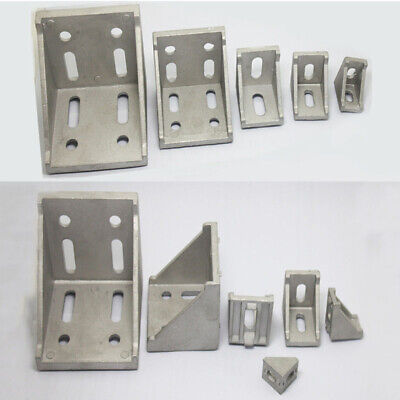 L Shape Aluminum Right Brace Corner T Slot Angle Bracket Profile 2030406080