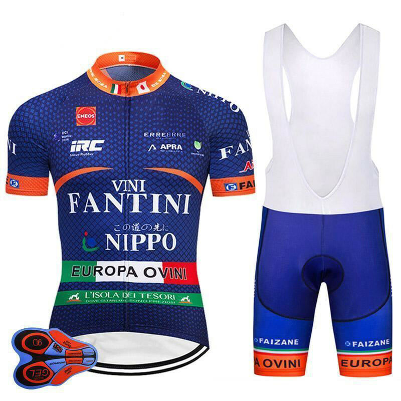 VINI Fantini Nippo RETRO Cycling BIKE Jersey Shirt Tricot Maillot Bib Kit