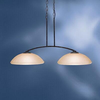 Kichler Distressed Black Chandelier/Island Light With Linen - Transitional Distressed Black Chandelier
