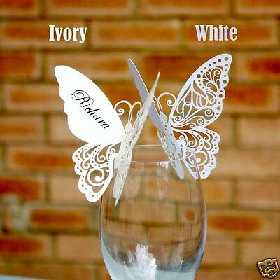 Colourful Butterfly Place Cards for Wedding Table Settings