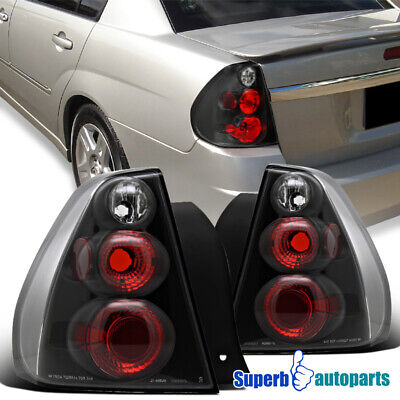 For 2004-2007 Chevy Malibu Replacement Tail Lights Brake Lamps Black