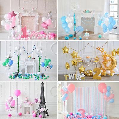 Balloons Birthday Backdrop For Photography Party Celebration Backgrounds Studio - Birthday Backdrop
