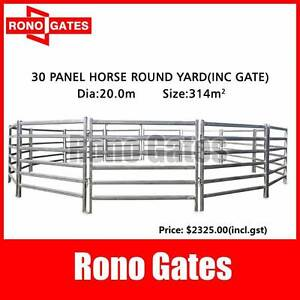 Horse Round Yard Panel 30pcs 20.0m Diameter Inc.Gate(Gal. Steel) Hallam Casey Area Preview
