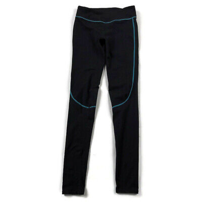 Fabletics Womens XS Black Blue Midrise Full Length Leggings