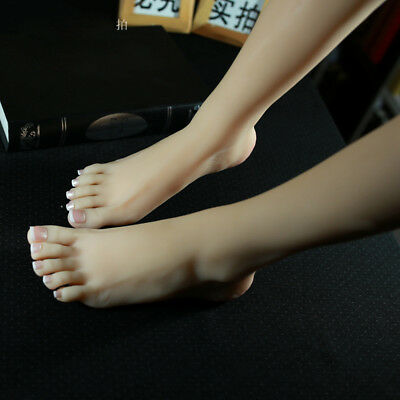 Top Quality Silicone Female Mannequin Leg Feet Shoes Socks Display Model Size 39
