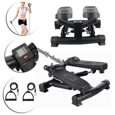 Twist Exercise Step Machine Aerobic Fitness Stepper Workout Resistance Arm Cord
