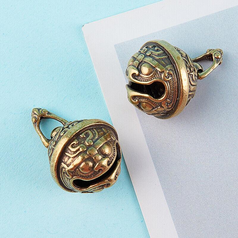 Gluttony Brass Handicraft Key Car Button Bronze Bell Gift Decoration Pendant^