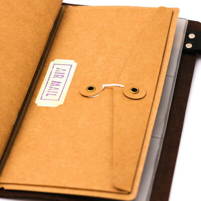 Classic Kraft Paper Inner Sheet Traveler Notebook Envelope Folder File Bag