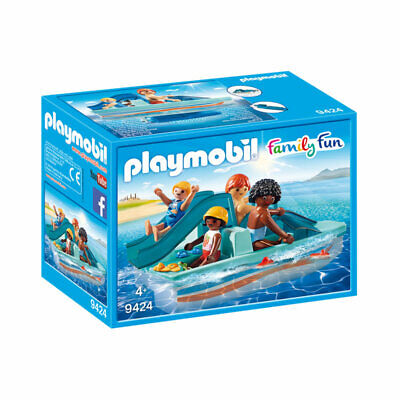 PLAYMOBIL Floating Paddle Boat - Family Fun 9424