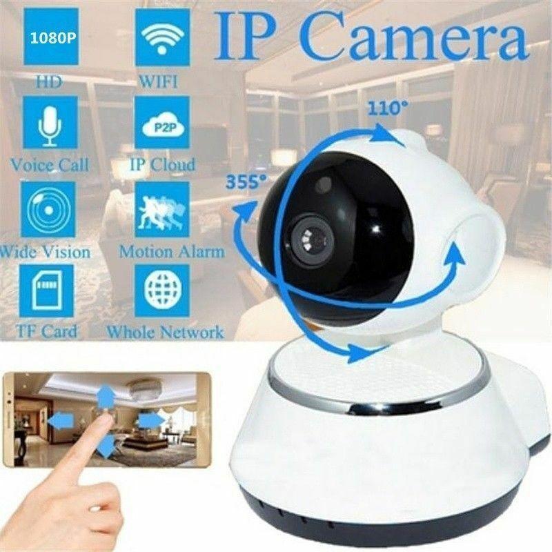 Wireless WIFI Pan Tilt Security IP Camera 720P IR Night Home