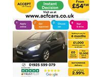 2014 GREY FORD S-MAX 2.2 TDCI 200 TITANIUM X SPORT DIESEL CAR FINANCE FR £54 PW