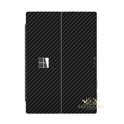 SopiGuard Carbon Fiber Skin Rear Back Film Protector for Microsoft Surface Pro 4