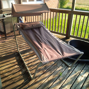 Hammock with metal frame pillow and shade cover Kawartha Lakes Peterborough Area image 1