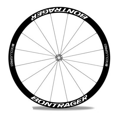 Two Wheels Stickers for Bontrager Pro 3 Rim Disc Brake Road Bike Bicycle Decals