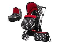 Free delivery Obaby Chase 2in1 Pram System-Crossfire RRP £449 prams baby