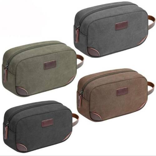 Men Women Unisex Travel Toiletry Bag Portable Zipper Canvas