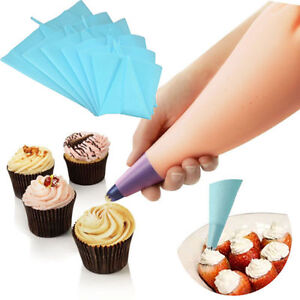 Silicone reusable icing piping cream pastry bag cake Home decorating tools