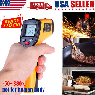 Digital Thermometer Infrared Temperature Gun Non-contact Ir Laser Point Us Fast