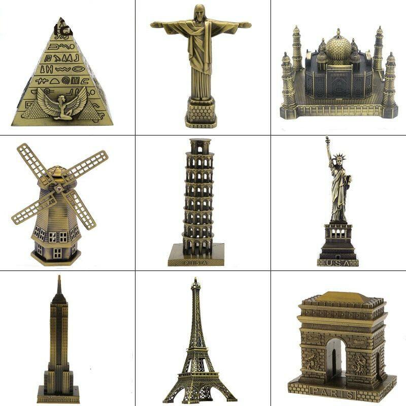 Metal Figurine Architecture World Famous Landmark Building Souvenir Statue Gift