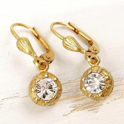 La Vie Parisienne Catherine Popesco Small Clear Swarovski Crystal Ball Earrings, used for sale  College Station