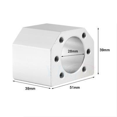 Cnc Ball Nut Housing Bracket Mount 28mm For Sfu1604 1605 1610 Ball Screw Nuts