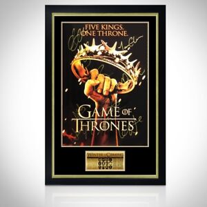 GAME OF THRONES - 'THE CROWN' Hand-Signed Poster Custom Frame