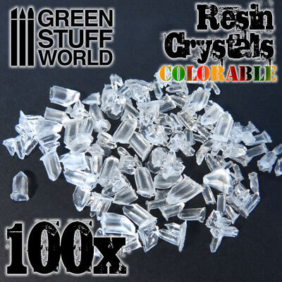 Cristales de Resina transparentes coloreables - miniaturas necrones warhammer