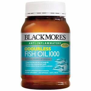 Blackmores Odourless Fish Oil 1000mg 200capsules Wattle Grove Kalamunda Area Preview