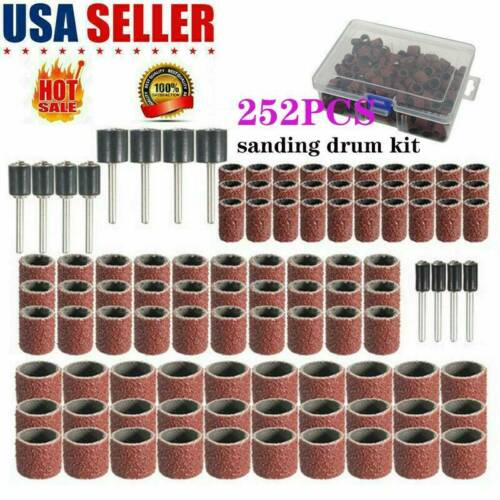 252X Drum Sanding Kit For Nail Drill Bits Accessories Dremel