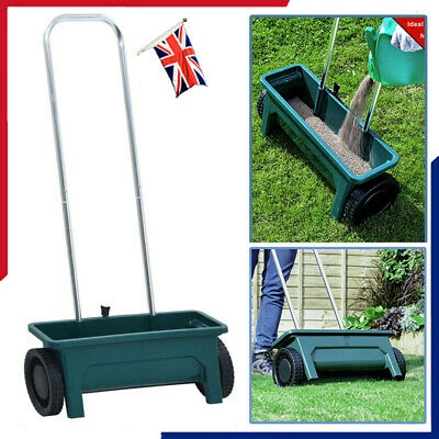 12 L Garden Lawn Grass Spreader Fertiliser Soil Seed Feed Salt Grit Dispenser