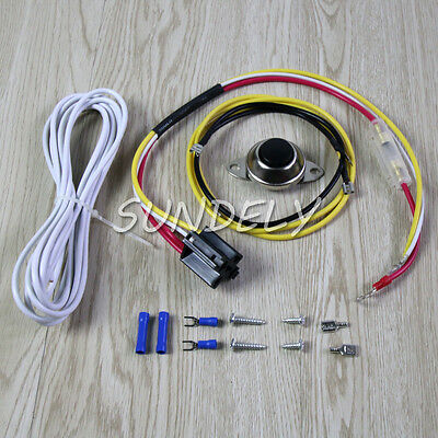Universal Car Horn Installation Wire Kit w/ Button Relay for Ooga Snail and (Horn Button Wire)
