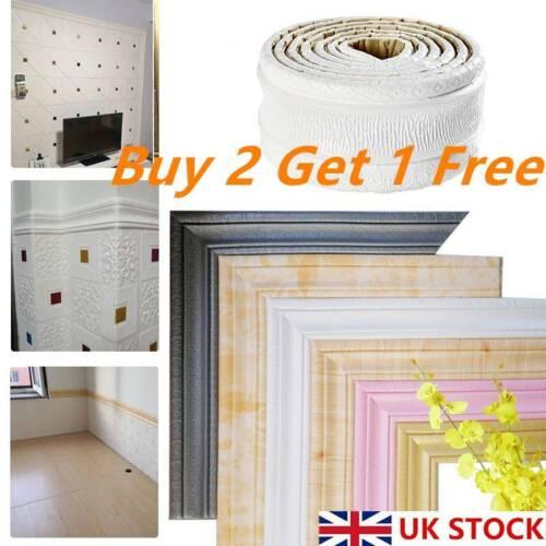 Home Decoration - 3D Wall Sticker Skirting Border Self Adhesive Sticker Home Decor Waterproof UK