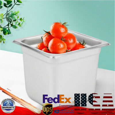6-pack 16 Size Steam Table Pan Buffet Hotel Food Pot Stainless Steel 6 Deep