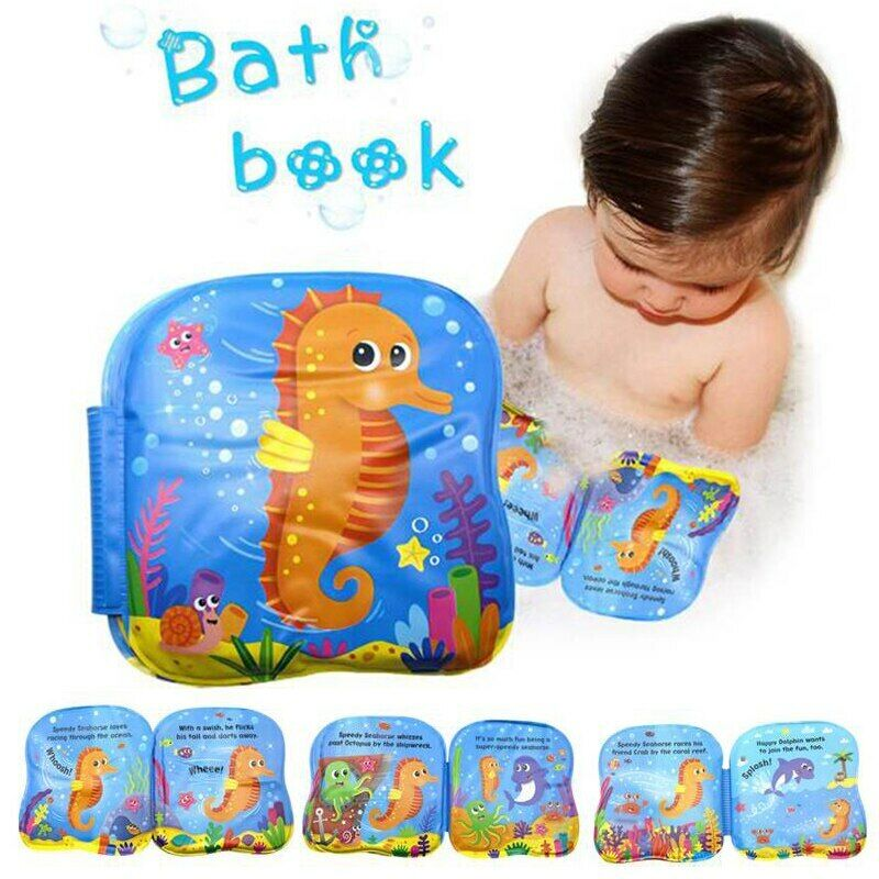 Baby Bath Squirt Sea Toys W// Shark Net /& Educational Waterproof Counting Book